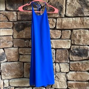 Blue dress with open back detail